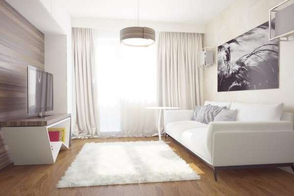 Дизайн интерьера однокомнатной квартиры - идеи и фото 2017
