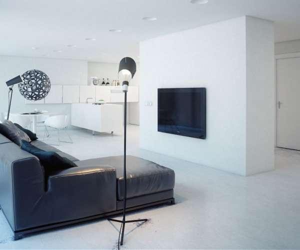Дизайн однокомнатной квартиры студии в стиле минимализм