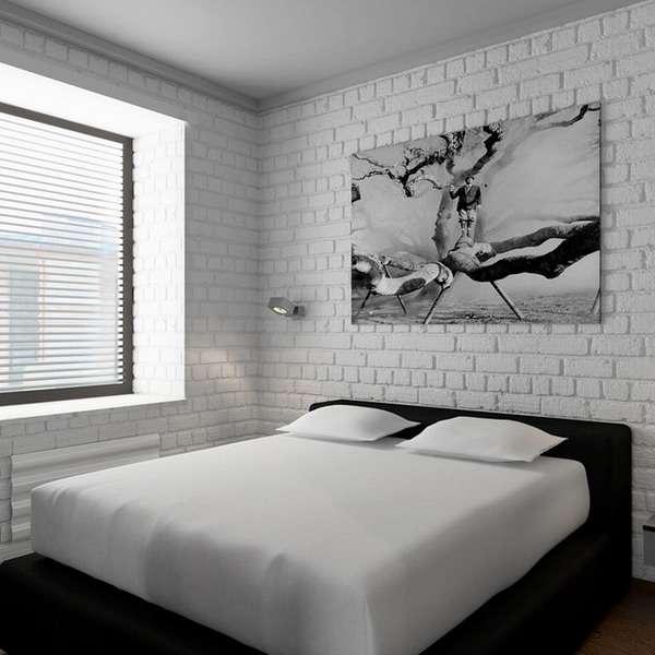 Интерьер спальни в дизайне однокомнатной квартиры