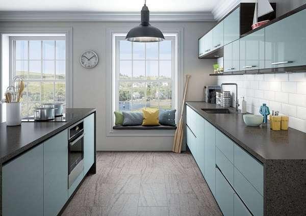 Современная кухня с островом в частном доме - фото дизайн с островом