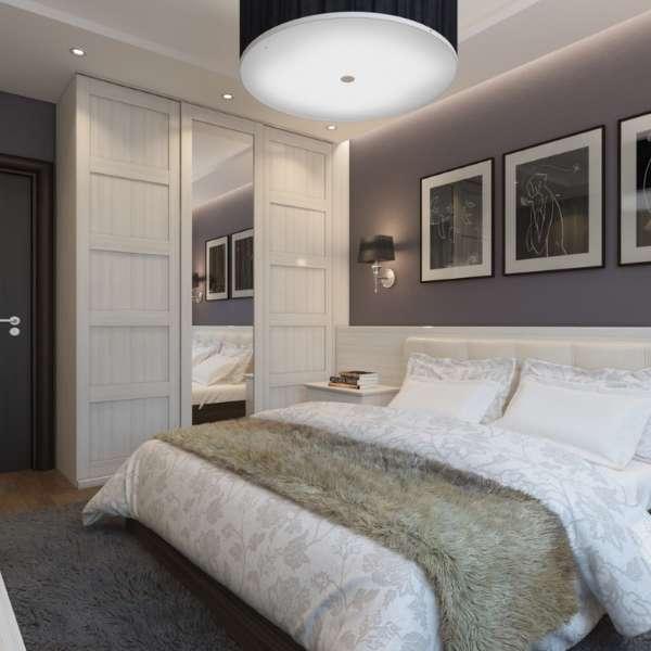 Маленький шкаф купе в спальню - фото дизайн идеи