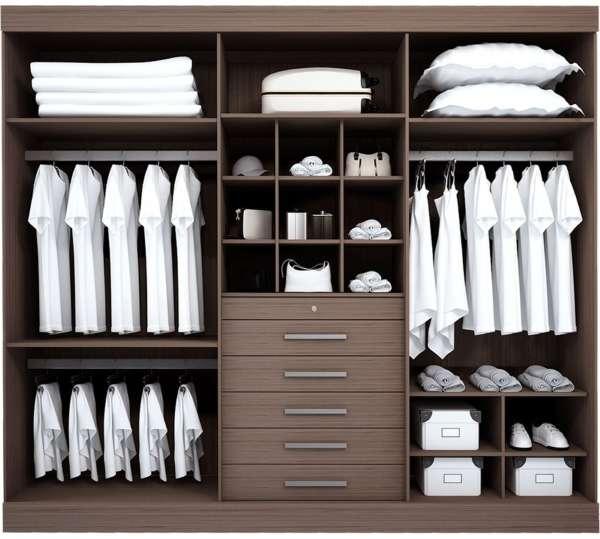 Удобный трехдверный шкаф купе в спальню - фото внутри