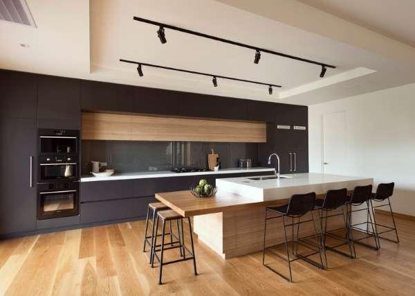 Интерьер кухни столовой в частном доме - фото современных идей