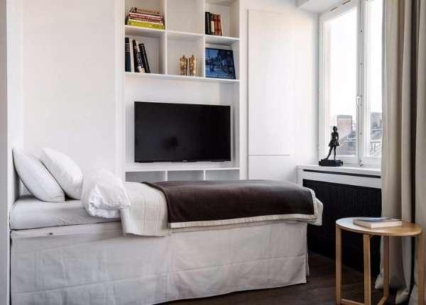 Дизайн маленькой квартиры студии 30 кв м в стиле минимализм