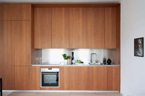Современный дизайн кухни в маленьких квартирах студиях 30 кв м