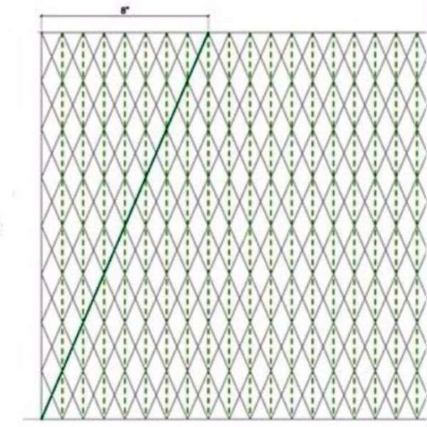 Чертеж для изготовления светильника из бумаги