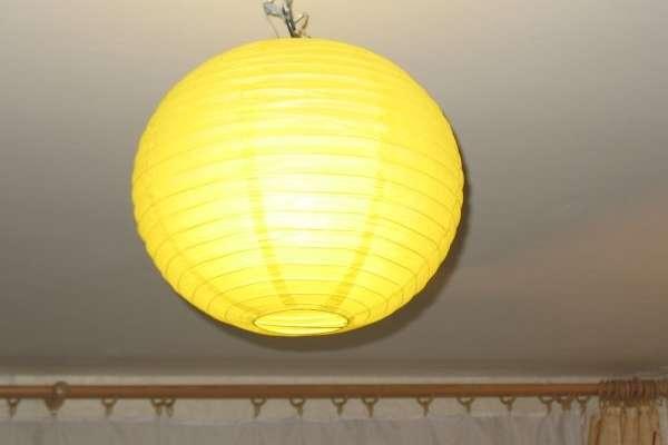 Китайский фонарик из бумаги - потолочный светильник своими руками