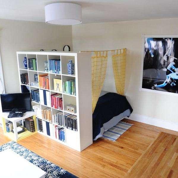 Зонирование однокомнатного интерьера - как отделить спальню