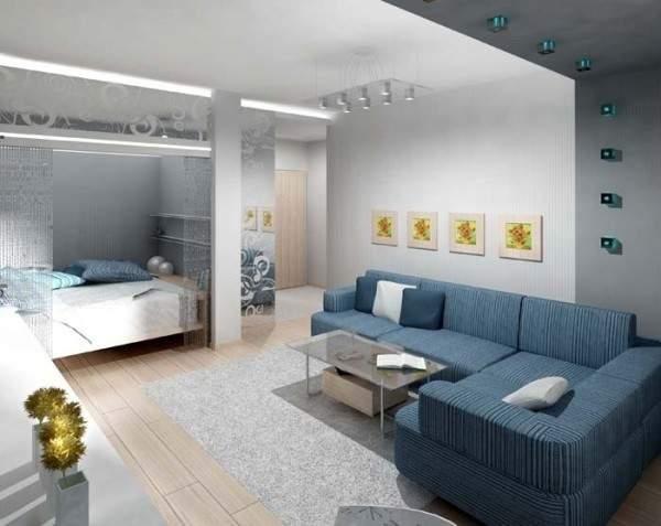 Дизайн однокомнатной квартиры: разделить на две зоны спальню и зал