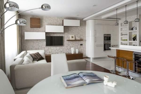 Современный дизайн однокомнатной квартиры студии 35 кв м