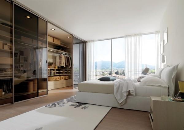 Шкаф купе в спальню - встроенная гардеробная система