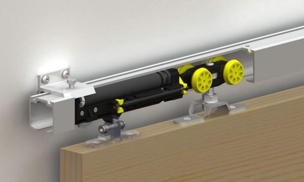 Как работают подвесные двери для встроенного шкафа купе