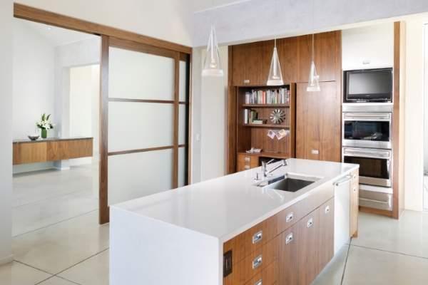 Раздвижные двери на кухню: 28 фото необычных вариантов