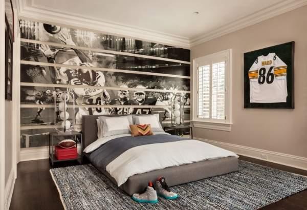 Необычные цвета для детской комнаты - черный и белый