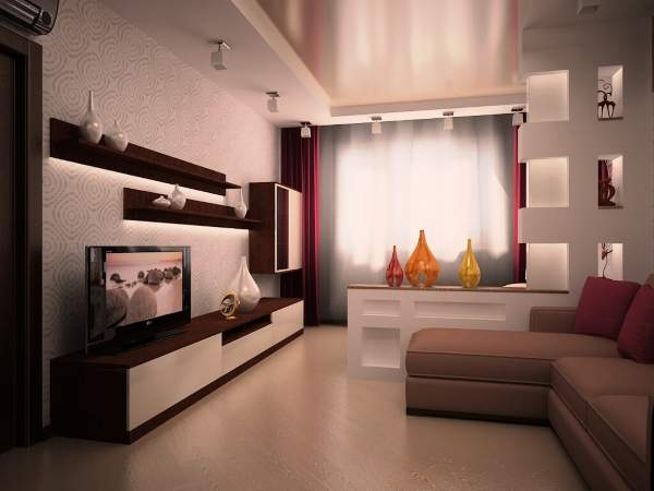 C mo decorar la sala en la foto apartamento for Sala de estar dimensiones