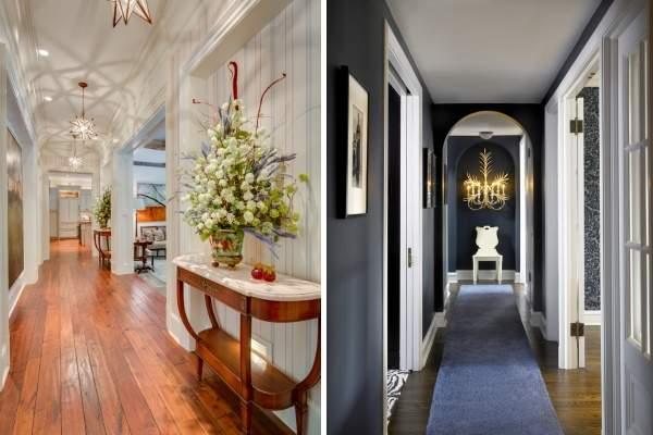 Дизайн второго этажа в частном доме - фото красивого коридора
