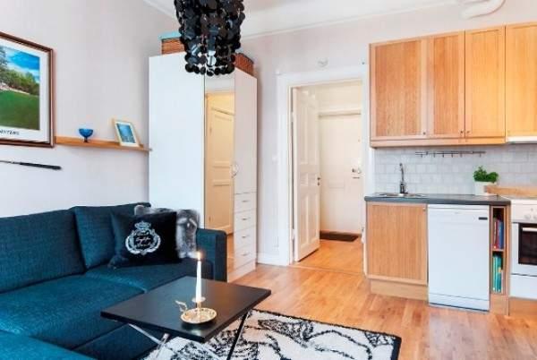 Идеи для квартиры студии - вариант маленького интерьера 25 кв м