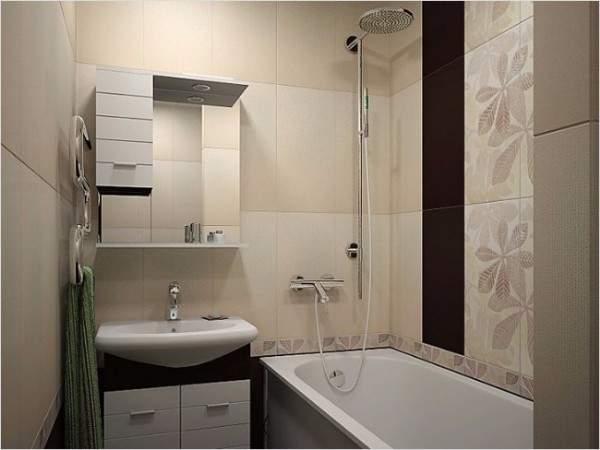 Современный дизайн квартиры студии - фото ванной комнаты