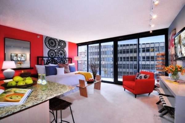 Идеи дизайна квартир студий - фото планировки 30 кв м