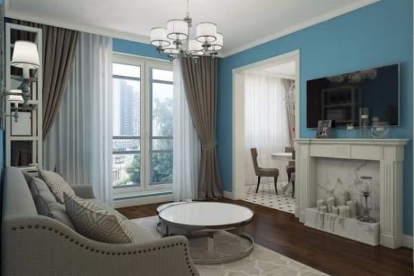 Шикарный классический дизайн квартиры студии 40 кв м - фото гостиной