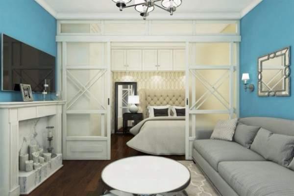 Дизайн квартиры студии 40 кв м в классическом стиле