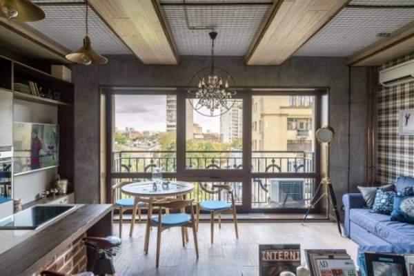 Дизайн кухни гостиной в интерьере квартиры студии 40 кв м в стиле лофт