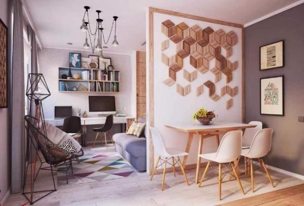 Дизайн квартиры студии 40 кв м в скандинавском стиле