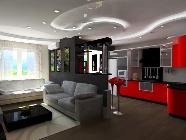 Дизайн квартиры студии в современном стиле - фото лучших идей
