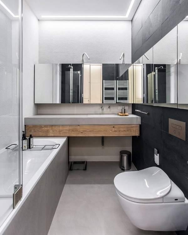 Красивые ванные комнаты в современнмо стиле - фото в квартире