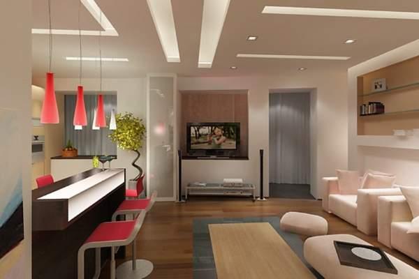 Современный дизайн кухни гостиной в хрущевке