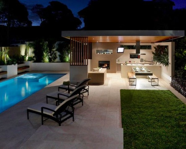 Дизайн двора в современном стиле, фото 8