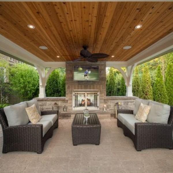 12 Great Ideas For A Modest Backyard: Дизайн двора частного дома (60 фото): создаем красивый
