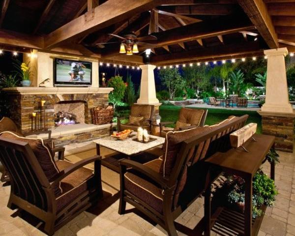 Оформление дизайн двора частного дома, фото 2
