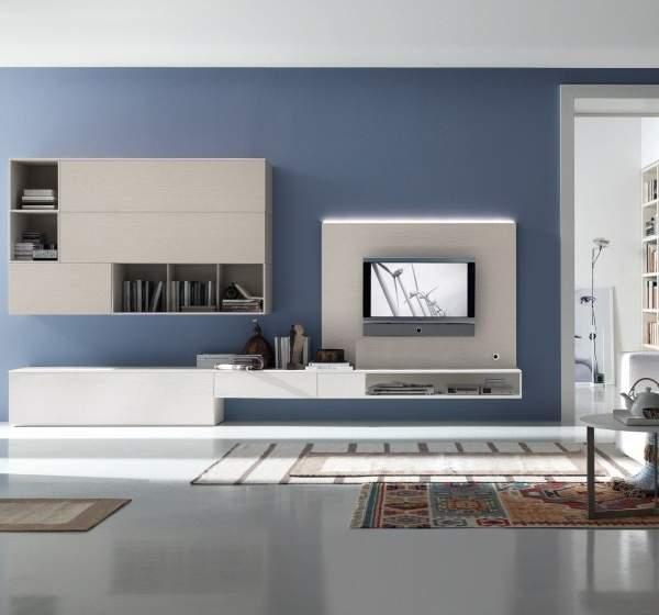 Дизайн зала в квартире в современном стиле хай тек и белой мебелью