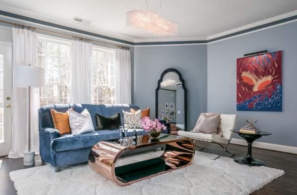Интересные идеи дизайна гостиной в частном доме 2017