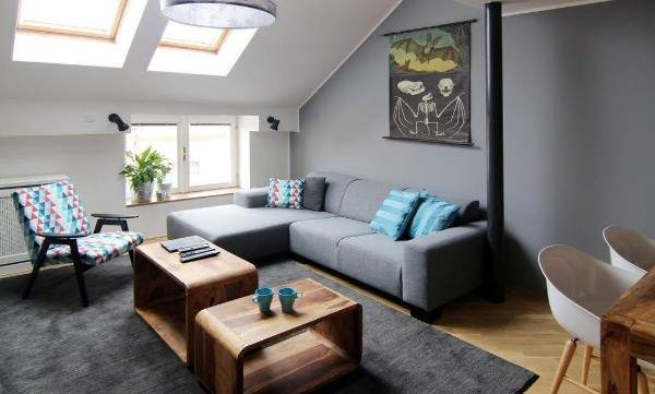 Как обставить зал в частном доме - идея дизайна в стиле минимализм