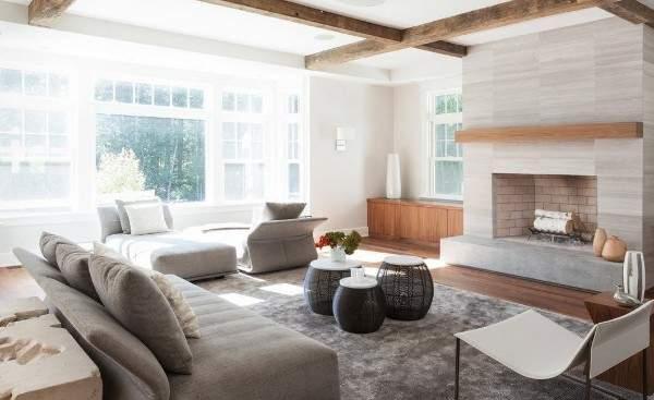 Интерьер зала с камином в частном доме своими руками - фото 2017