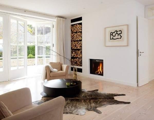 Дизайн частного дома в стиле минимализм - интерьер гостиной на фото