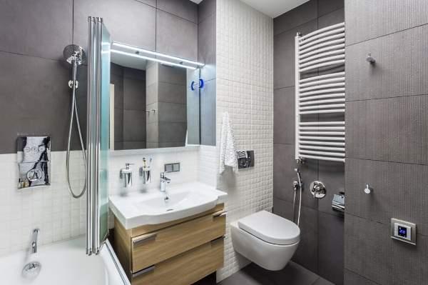 Красивая маленькая ванная комната - фото в стиле хай тек