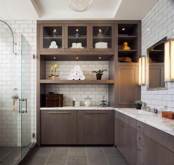 Красивые интерьеры ванных комнат со стильной мебелью