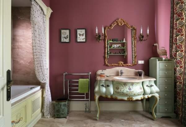 Красивая ванная комната - дизайн фото в стиле прованс