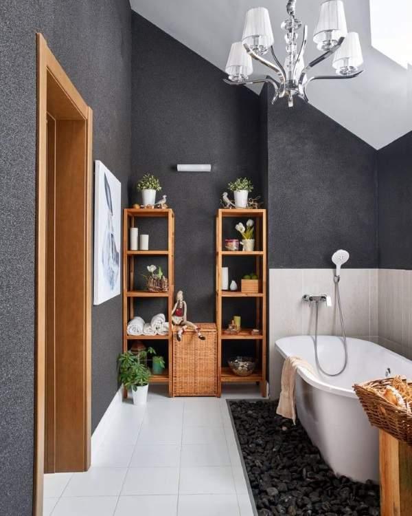 Как красиво сделать ванную комнату - фото в стиле эко