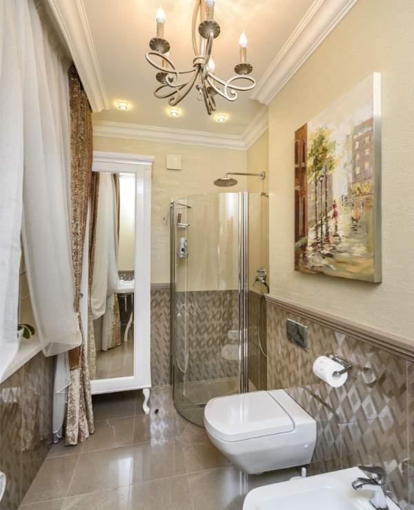 Красивые ванные комнаты - фото совмещенного санузла в квартире