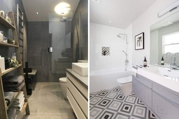 Красивая плитка в ванной комнате - фото идей 2017