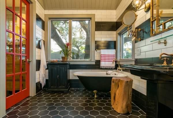 Красивые ванные комнаты в частных домах в современном стиле