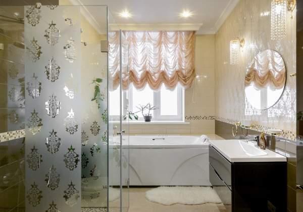 Интерьер ванной комнаты в дизайне частного дома - фото 2017