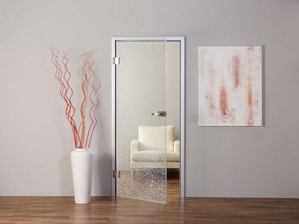 Двери межкомнатные одностворчатые распашные стеклянные