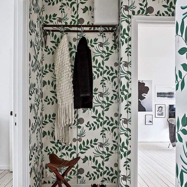 Модные обои для интерьера 2017 - фото с растительными узорами