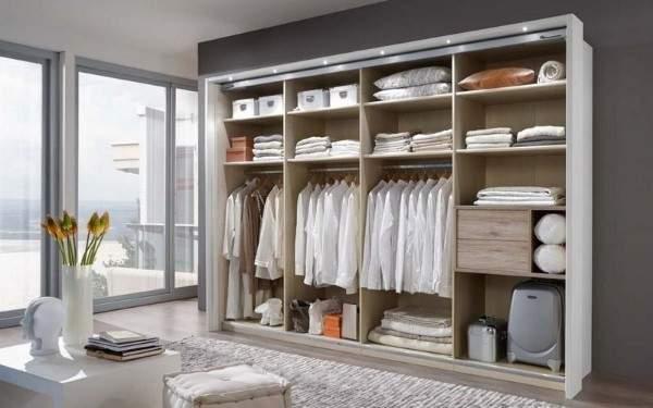 Внутренний дизайн шкафов купе в спальню