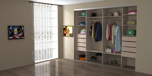 Встроенный шкаф купе в спальню - размеры и фото внутри